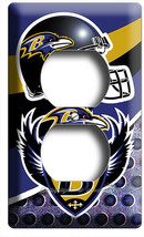 BALTIMORE RAVENS AMERICAN FOOTBALL TEAM OUTLET WALL PLATE MAN CAVE ROOM ... - $8.99