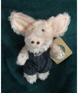 Pink Piggy in Denim Overalls BOYDS BEAR & FRIENDS 1990's Collectible Ret... - $19.99