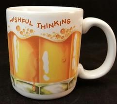 Stoneware Coffee Tea Mug Cup American Greetings Wishful Thinking Beer Glass - $4.99