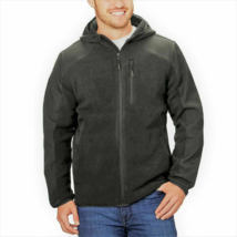 Reebok Men's Hybrid Softshell Jacket, Charcoal, XXL - $24.74