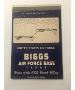 Vintage Matchbook Cover Matchcover Biggs US Air Force Base Texas TX - $4.99