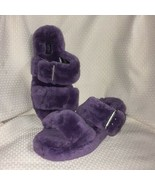 New UGG Fuzz Yeah Women's Slide On Slipper Purple Size 7 - $89.09