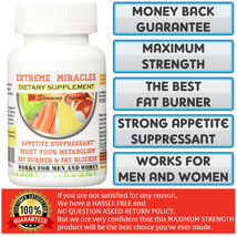 1 BOTTLE (36 CAPSULES) EXTREME MIRACLES SLIMMING CAPSULES MAXIMUM STRENGTH. - $25.99