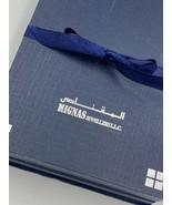 Vintage Arabic Jewellery Box Necklace Gift Box Velvet - $19.30