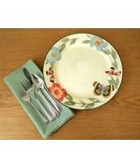 """Pair of Pfaltzgraff """"Butterfly Garden"""" Pattern Stoneware Dinner Plates - $18.00"""