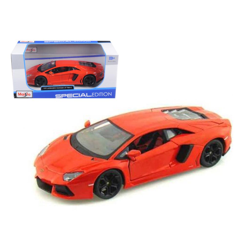 Lamborghini Aventador LP700-4 Orange 1/24 Diecast Model Car by Maisto 31210or