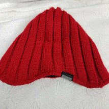 Columbia Red Knit Beanie Winter Hat Men's Women's One Size OS Unisex Fle... - $9.49
