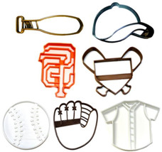 San Francisco Giants MLB Team Baseball Bat Set Of 7 Cookie Cutter 3D USA... - $19.99