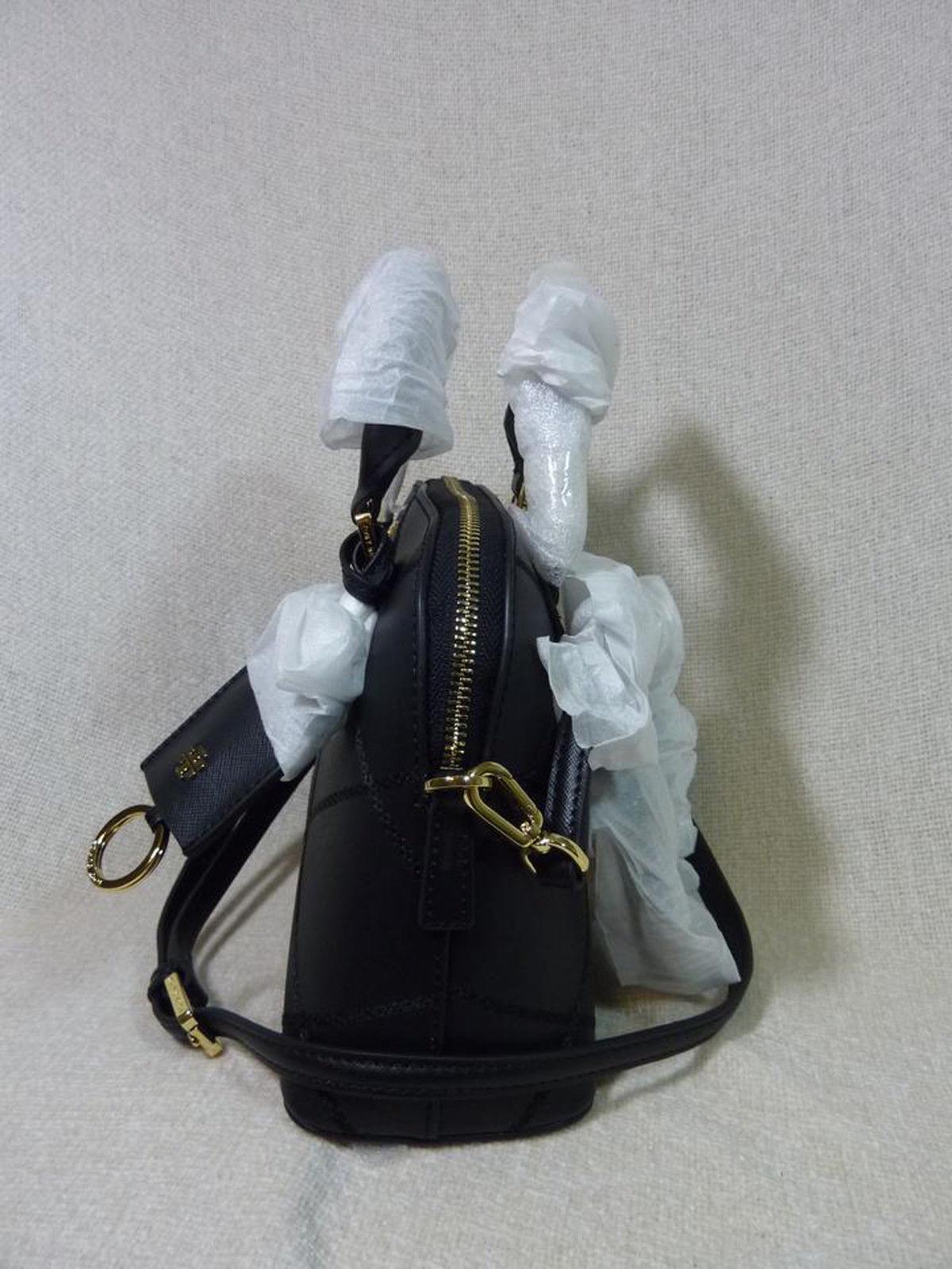NWT Tory Burch Black Saffiano Mini Robinson Stitched Dome Cross Body Bag  - $425 image 3