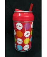 Coca-Cola 12 oz Water Bottle Igloo Cool Gear Double-Wall Dot Multi Color - $3.71