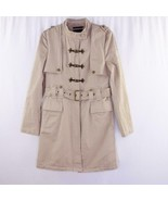 Alpha Industries Alpha Lux Tan Military Style Belted Trench Coat Womens ... - $38.69