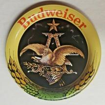 """Vintage Budweiser Beer Anheuser Busch Symbol Eagle Metal Coasters  3.5""""  New H9 - $9.99"""