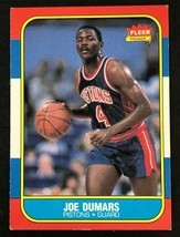 1986-87 Fleer Joe Dumars ROOKIE #27 Detroit Pistons RC - $7.87