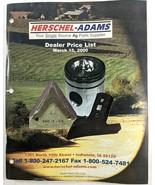 Herschel-Adams March 2000 Dealer Price List Parts Catalog w/ Letter from... - $17.90