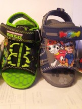 Toddlers Light-Up Sandal T. M. N TURTLEs or Paw Patrol  NWT asst sizes - $20.73
