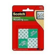 Indoor Mounting Squares, 1-inch x 1-inch White, 24-Squares  BY Scotch