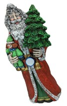 Santa Christmas Tree Clown Drum Bell Resin 12.75 Inches Tall - $60.00