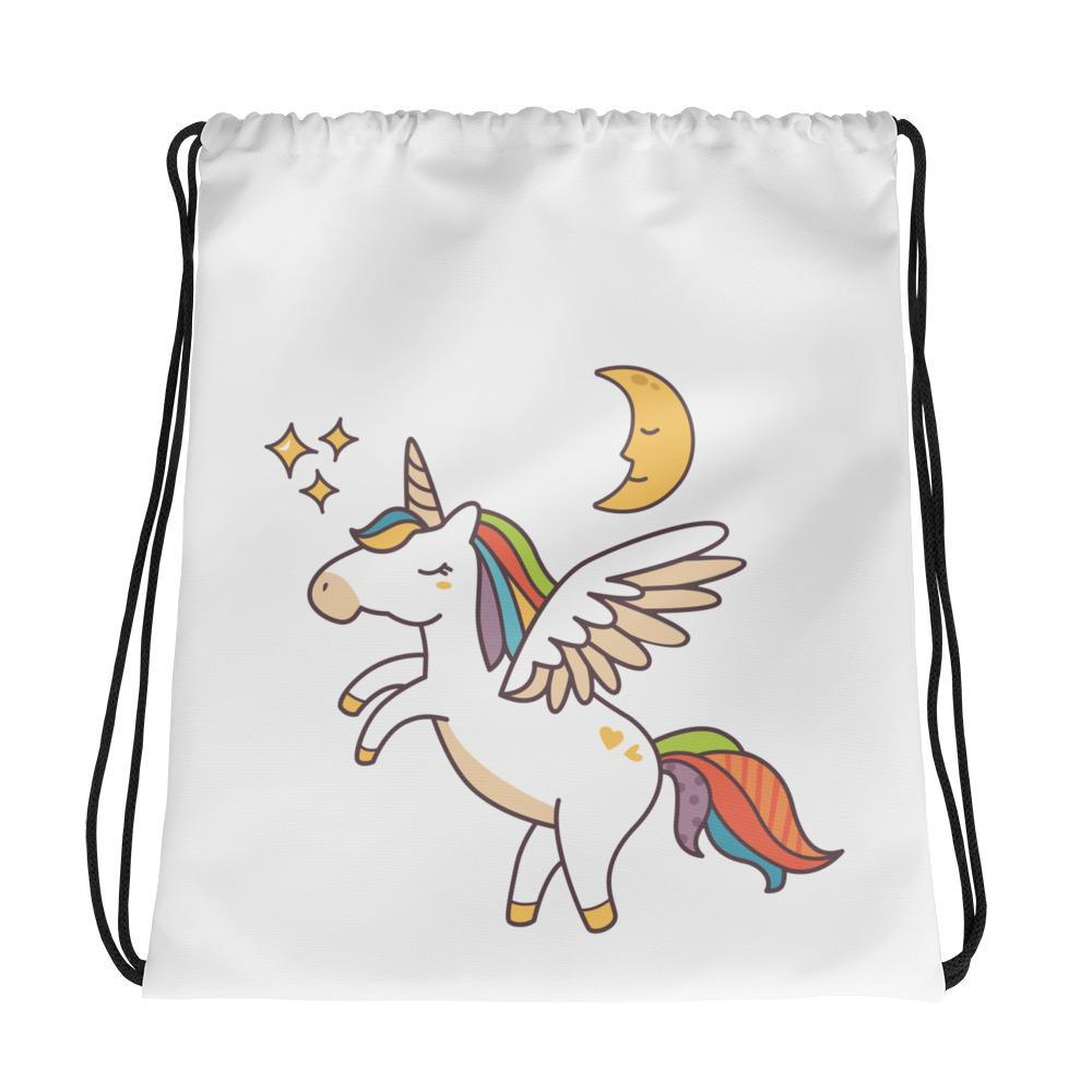 Flying Unicorn Drawstring Bag