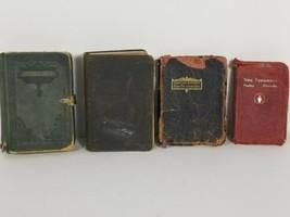 Lot of 4 Vintage Pocket Bibles 1 rare with Metal Brackets,  King James 1... - $39.19