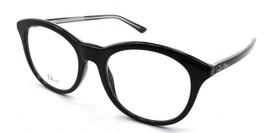 Christian Dior Eyeglasses Frames Montaigne 41 VSW 52-19-145 Black Crystal Italy - $118.19
