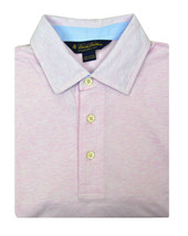 Brooks Brothers Heather Pink Slim Fit Soft Knit Polo Shirt Sz Large L 3185-7 - $46.27