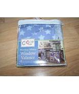 CoCalo Baby Monkey Mania Nursery Room Window Valance Blue Brown Stars St... - $16.00
