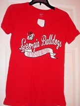 Ncaa Soffe Georgia Bulldogs Ladies Red Cotton T-SHIRT New - $12.99