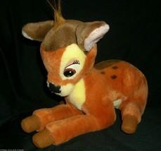 """13"""" Walt Disney World Vintage Bambi Stuffed Animal Plush Toy Movie Brown Deer - $14.03"""