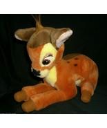 "13"" WALT DISNEY WORLD VINTAGE BAMBI STUFFED ANIMAL PLUSH TOY MOVIE BROWN... - $14.03"