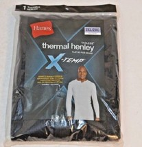Hanes Men's Big Red Label X-Temp Thermal Shirt Long Sleeve Henley Top Size 2XL - $9.49