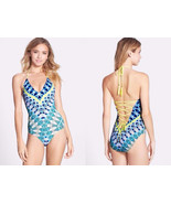 NWT RED CARTER South Beach XS 4 designer 1PC maillot swimsuit lace-up ba... - $77.59