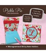 Monogrammed Sticky Note Holders Pickle Pie Designs - $12.86