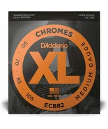 (New) D'Addario XL Chromes Bass 4-String ECB82 Long Scale 50/105 Warm/Me... - $39.49