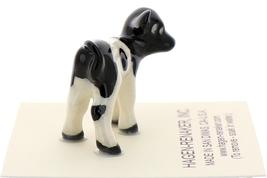 Hagen-Renaker Miniature Ceramic Cow Figurine Holstein Bull Cow and Calf Set image 4