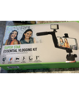 Super Star Essential Vlogging Kit, with LED Light, Microphone, Tripod an... - $26.18