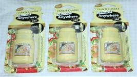 Lot of 3 Yankee Candle Christmas Cookie Almost Anywhere Jar Air Freshene... - $14.24