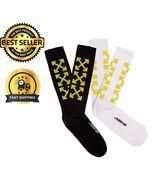 Off White Socks Arrows C/O Virgil Abloh Long Unisex Striped Black White ... - $10.78+