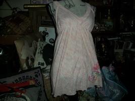 Anthropologie Free People Dainty Sweet Pink Racer Back Knit Dress Size Sp - $12.87