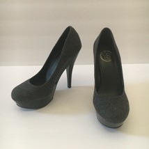 Jessica Simpson Gracex Gray Wool Round Toe Platform Pumps Heels Size 7.5 M - $28.71
