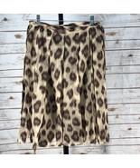 Women's Lafayette 148 New York Animal Print Skirt, Size 8 EUC (w14273) - $48.30