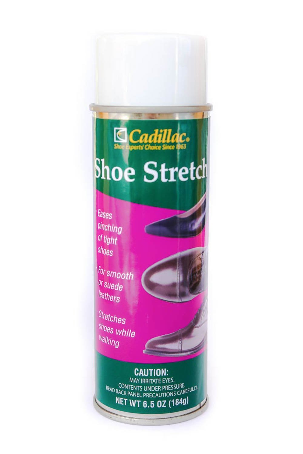 Cadillac Shoe Stretch Spray Tight Shoes Instant Relief Spray 6.5 oz Can