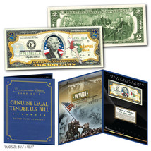 United States AIR FORCE WWII Vintage Genuine $2 Bill in 8x10 Collectors ... - $19.75