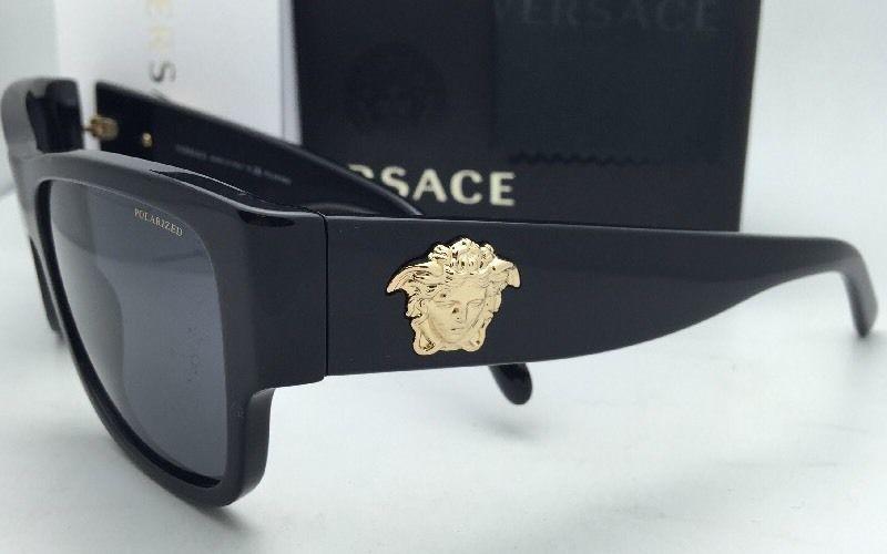 aa8be033da Polarized VERSACE Sunglasses VE 4275 GB1 81 58-18 140 Black Frames w