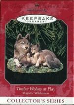 1998 Hallmark Keepsake Ornament - Timber Wolves at Play - Majestic Wilde... - $4.94