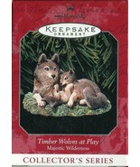 1998 Hallmark Keepsake Ornament - Timber Wolves at Play - Majestic Wilde... - $4.94