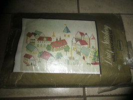"""Dritz Stichery The VILLAGE wall hanging Kit Embroidery Needlepoint 27""""H x 39"""" W  - $27.66"""