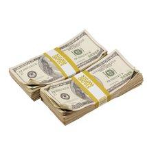 PROP MOVIE MONEY - 2000 Series $100s $20,000 Aged Full Print Prop Money Bundle - $54.99