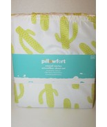 Pillowfort Casual Cactus Sheet Set FULL SIZE NEW white yellow microfiber... - $9.89