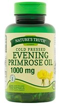 Nature's Truth Cold Pressed Evening Primrose Oil 1000 mg Capsules, 60 Count - $14.35