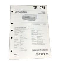 Sony XR-1750 FM AM Car Stereo service Manual - $14.99
